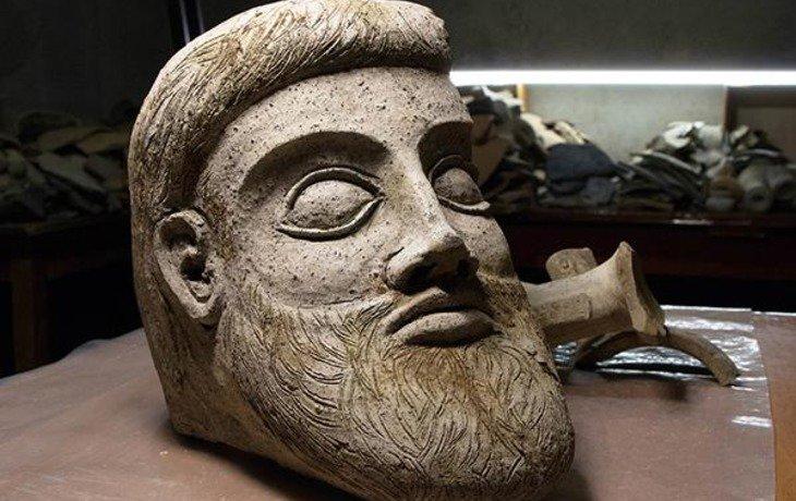 В районе строительства Керченского моста обнаружили голову древнегреческой скульптуры
