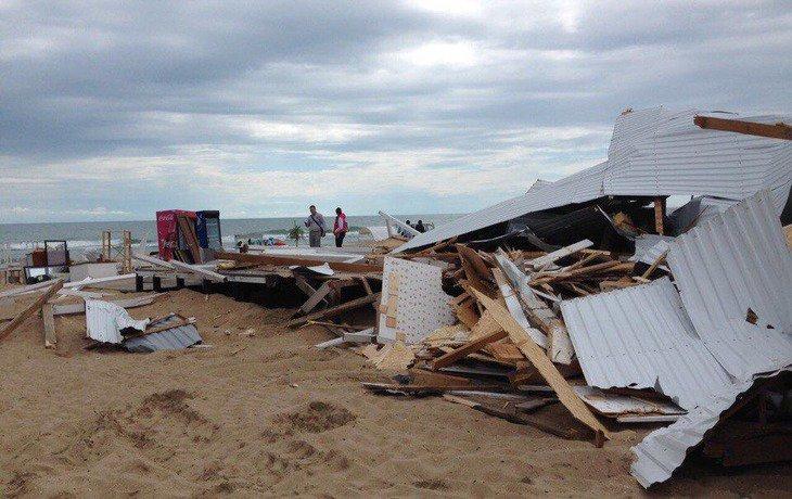Вблизи Анапы снесли пляжный комплекс «Blaga Beach»